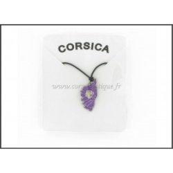 Pendentif CORSE ZAMAC Violet