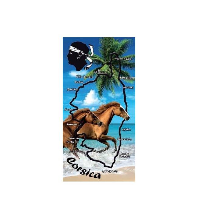 serviette cheval plage corse 9169