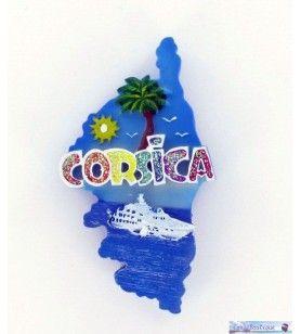 Corsica kaart glittermagneet