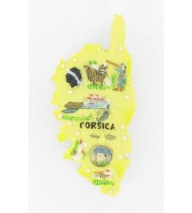 Magnete isola di Corsica giallo 6110