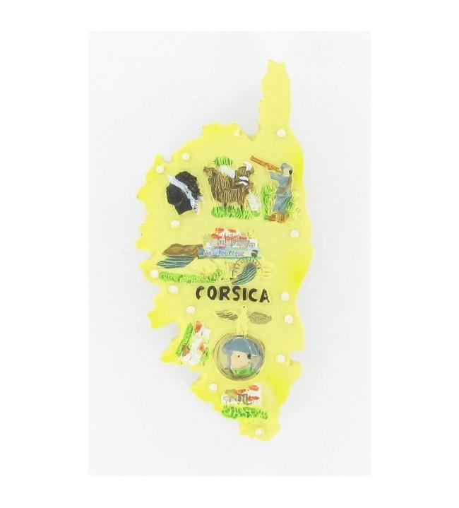 Magnet île Corsica jaune 6110