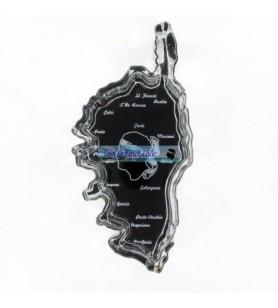 Cendrier Cristal Carte Corse