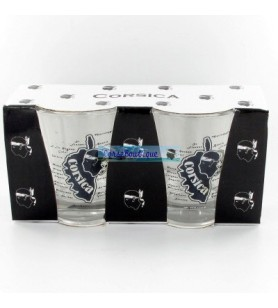 Glas Kaffee in Korsika Koffer X2