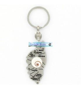 Porta chiave con carta di corsica Occhio di Santa Lucia