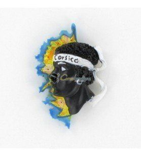 Corsica and Moorish Head Card Magnet