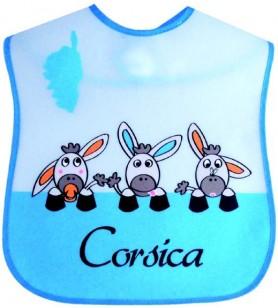 Bib plastic 3 donkeys corsica