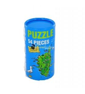 Puzzel kaart van Corsica