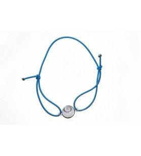 armband elastisch koord en oogje van heilige lucie gezet in zilver