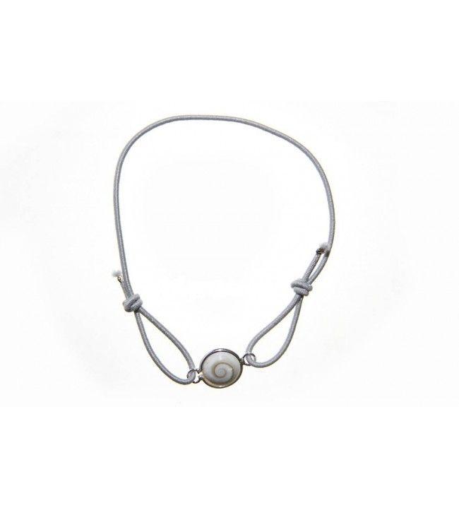polsband elastisch koord en in het oog van de heilige lucie set zilver  - 2