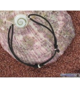 wrist strap elastic cord and eye of holy lucie set silver