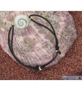 Armband elastische Schnur und Auge der Heiligen Lucia Silber