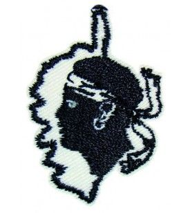 Embroidered iron-on badge Corsican card