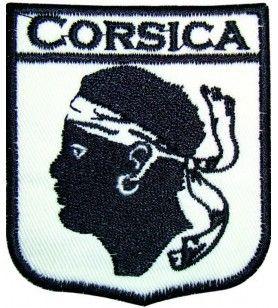 Geborduurd ijzer op Corsicavlak