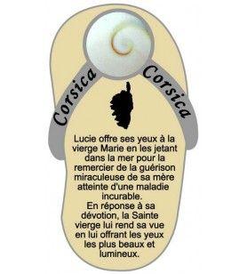 Imán de la llave de enrosque con la leyenda de los ojos de santa Lucía