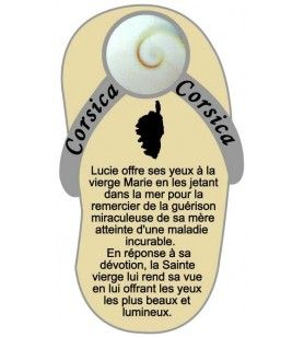 Magnete tong con la leggenda degli occhi di santa Lucia