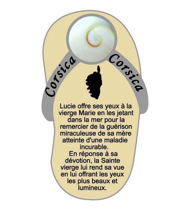 Magnet carte corse avec légende oeil de sainte Lucie