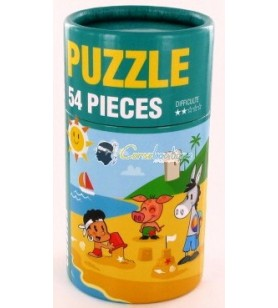 Puzzle Beach and child
