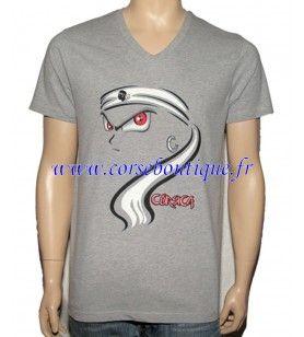Looking V-neck t-shirt