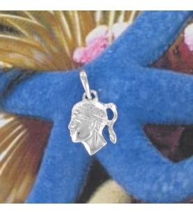 Hanger hoofd van een moor Zilveren Rhodium-plated