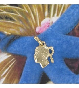 Pendant head of a moorish Gold-plated