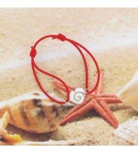 Bracelet cordon élastique et oeil de sainte Lucie forme coeur