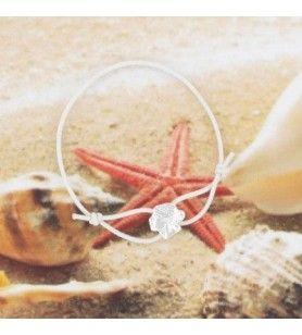 Bracelet enfant cordon élastique et Tête de Maure en argent