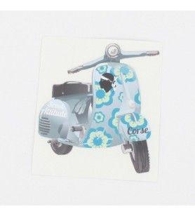 Sticker Scoot attitude Bleu