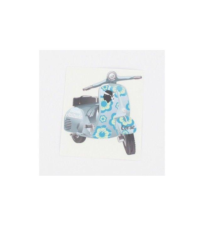 Sticker Scoot-houding Blauw
