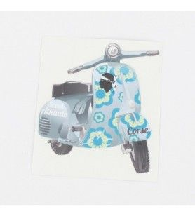 Sticker Scoot attitude Bleu