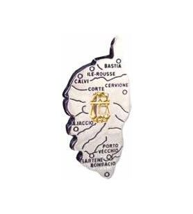 Magneet kaart van Corsica, met het teken van de Dierenriem