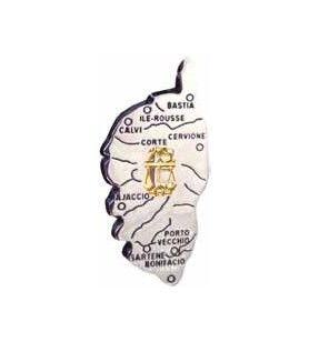 Magnet carte Corse avec signe du Zodiaque  - Magnet carte Corse avec signe du Zodiaque