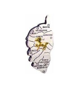 Corsica-kaartmagneet met Zodiac-teken
