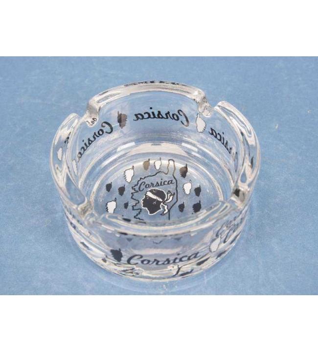 Mini ashtray transparent island corsica