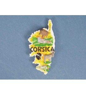 Magnet Geschnitten Insel Corsica