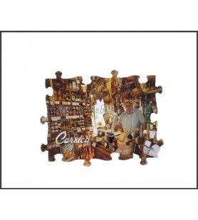 Imán de Puzzle Rectángulo tienda de Córcega