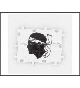 Imán de Puzzle Rectángulo Cabeza de Moro