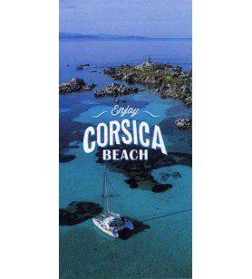 Strandlaken Microvezel Geniet van Corsica