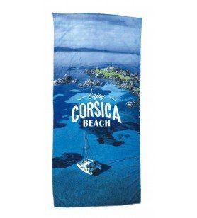 Serviette Plage Microfibre Enjoy Corsica