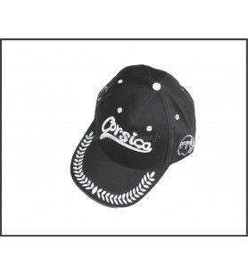 Mütze Klassisch Schwarz bestickt Corsica