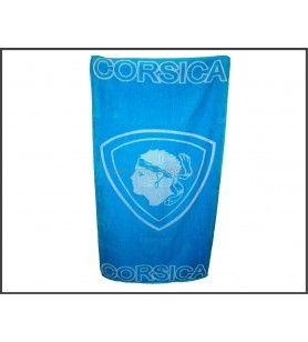 Serviette Sporting Corsica turquoise