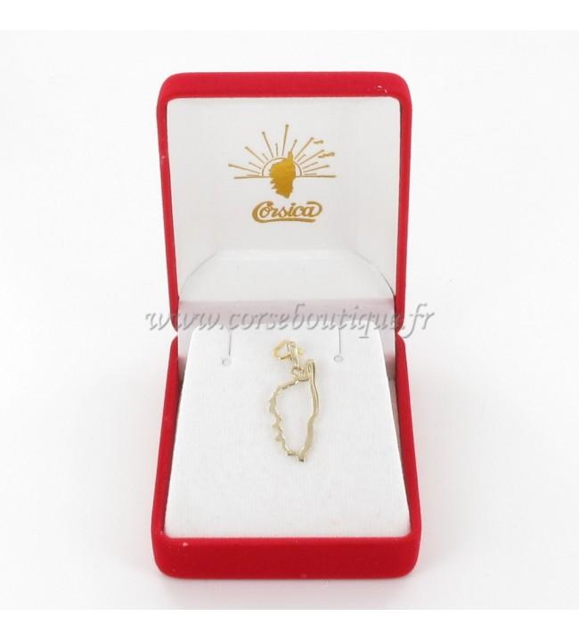 Pendendif Córcega recortadas Chapado en Oro de la 2139PE + caja