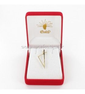 Gold plated stylized Corsican card pendant  - 1