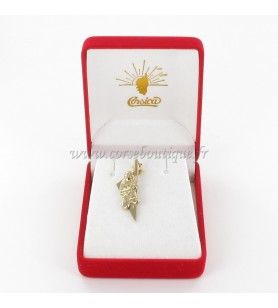 Pendant Corsica Card Stylized and ribellu Gold plated  - 1