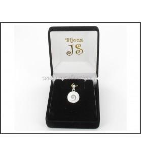 Colgante de plata de los Ojos de santa Lucía y de la Ronda de la madre-de-perla