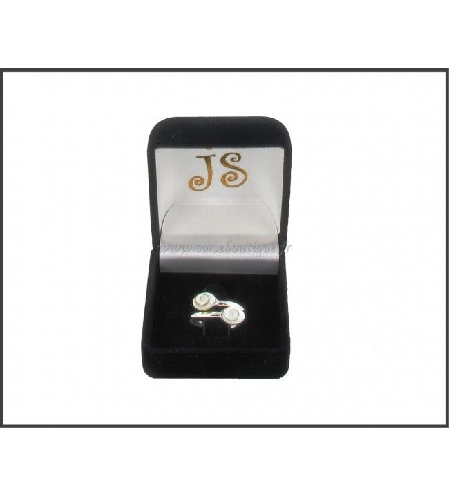 Ring silver double OSL 5127E + gift box