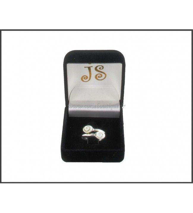 Ring silber doppel-Auge von Sainte Lucie 5127E + Ecrin