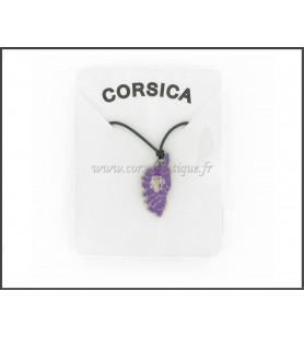 Colgante de CÓRCEGA de fundición de cinc de color Púrpura