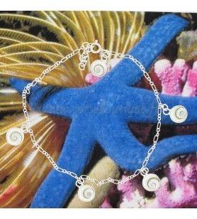 Kette knöchel-Silber und Auge in st. Lucia runde