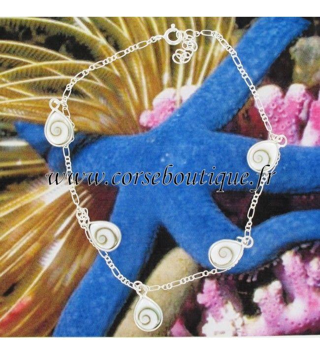 Kette knöchel-Silber und Auge in st. Lucia tropfen 5703