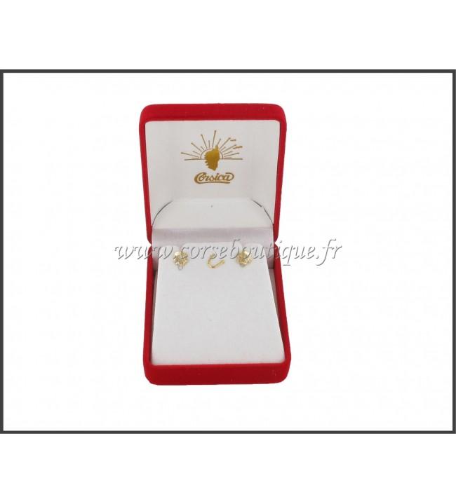Aretes Cabeza de Moro Chapado en Oro 2155PE + caja